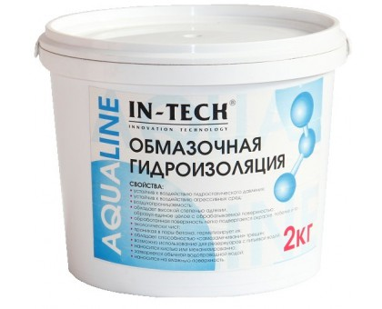 Гидроизоляция обмазочная ИН-ТЕК (IN-TECK) AQUALINE 10кг