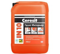 Грунтовка Церезит (Ceresit) IN 10 интерьерная 10л
