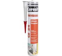 Герметик силиконовый Церезит (Ceresit) CS 24 белый 280мл