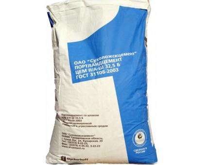 Цемент ПЦ 400 II/А-Ш 32.5Б Сухоложскцемент (синий) ГОСТ 21108-2003 50кг