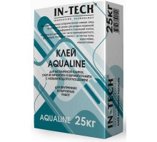 Клей для плитки ИН-ТЕК (IN-TECK) AQUALINE белый 25кг