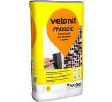 Клей для плитки Вебер Ветонит (Weber.Vetonit) Мозаик белый 25кг