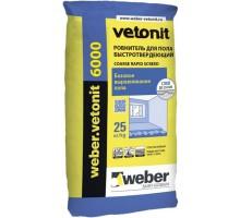 Ровнитель для пола Вебер Ветонит (Weber.Vetonit) 6000 быстротвердеющий 10-250мм 25кг