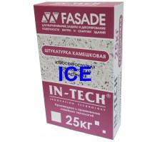 Штукатурка декоративная ИН-ТЕК (IN-TECK) FASADE белая камешковая (зима) 25кг