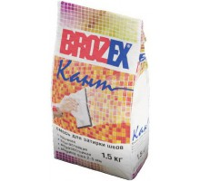 Затирка для плитки Брозекс (Brozex) КАНТ (Белый) 2-5мм 1,5кг