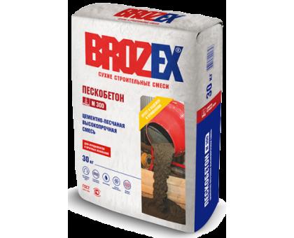 Цементно-песчаная смесь Брозекс (Brozex) ПЕСКОБЕТОН М-300 высокопрочная 30кг