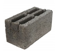 Блок керамзитобетонный стеновой 4-х щелевой 390х190x188 мм
