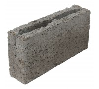 Блок керамзитобетонный перегородочный 2-х щелевой 390х188x90 мм