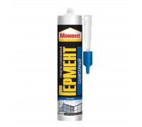 Герметик силиконовый Момент Гермент санитарный (белый), 280 мл