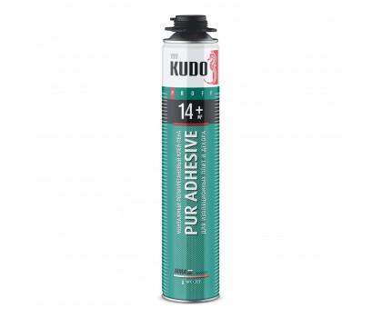 Клей-пена монтажная KUDO Proff 14+, профессиональная, всесезонная, 1000 мл