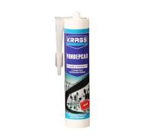 Герметик силиконовый Krass универсальный (белый), 300 мл