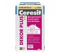 Штукатурка цементная Церезит (Ceresit) Dekor Plus фасадная 25кг
