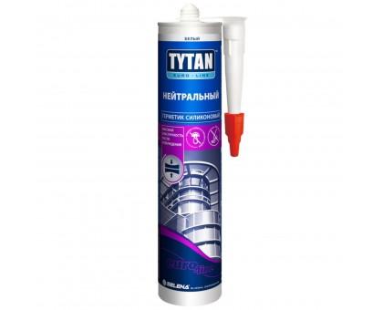Герметик Tytan Euro-Line Силикон Нейтральный (белый), 290мл