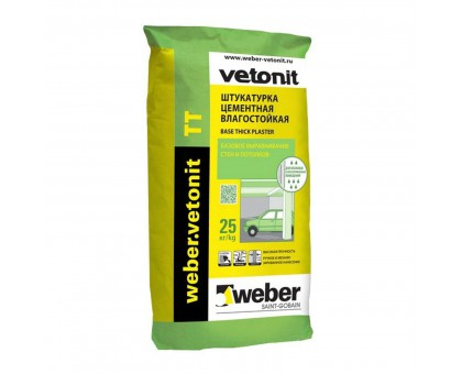 Штукатурка цементная Вебер Ветонит (Weber.Vetonit) ТТ 2-10мм 25кг
